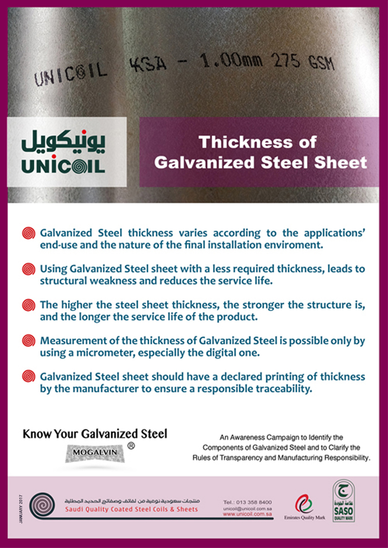 GI Steel Sheets Thickness